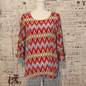 Peach Love Cream blouse tunic size medium